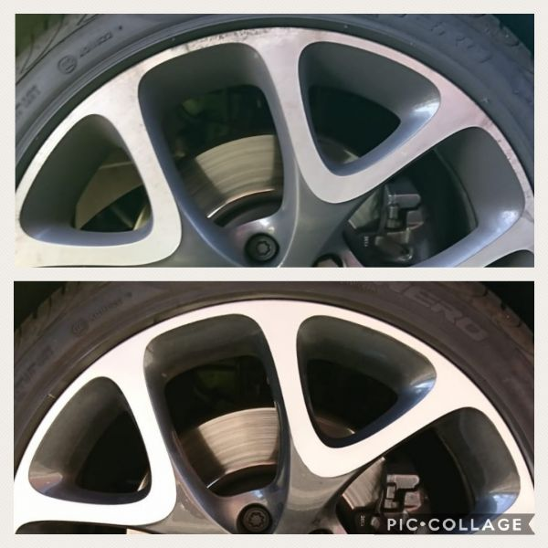 Corsa VXR diamond cut alloy wheels with curb rash repaired in Bingham. Our happy customer said we 'did a cracking job': Swipe To View More Images