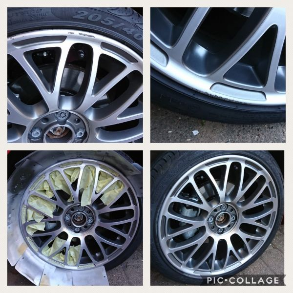 Diamond cut fiat 500 abarth rim repaired near Sheffield. : Swipe To View More Images