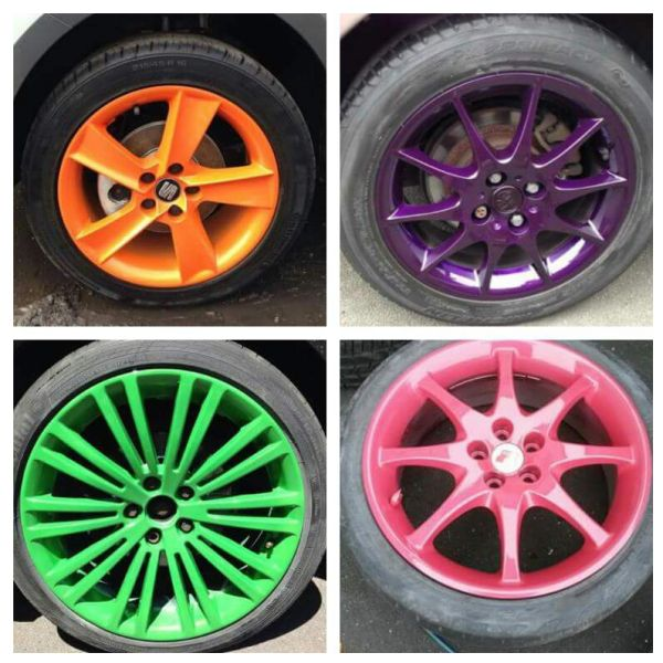 Some custom colour wheels we have sprayed over the years. If you'd like a custom colour give us a call or send us a message: Swipe To View More Images