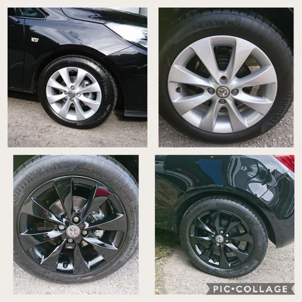 We love the colour change on these Vauxhall Corsa alloys from silver to gloss black. A great new style in Mansfield.: Swipe To View More Images