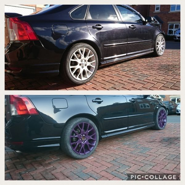 Cadbury purple wheels on this Volvo in Heanor, Derbyshire : Swipe To View More Images