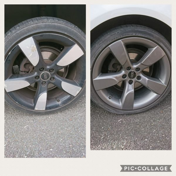 Full refurb and colour change into gunmetal grey on these Audi rotors in Newark: Swipe To View More Images