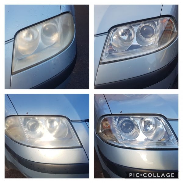 Headlight restoration on a vw passat. Avoid MOT failure and costly new head lamps with our polishing service: Swipe To View More Images