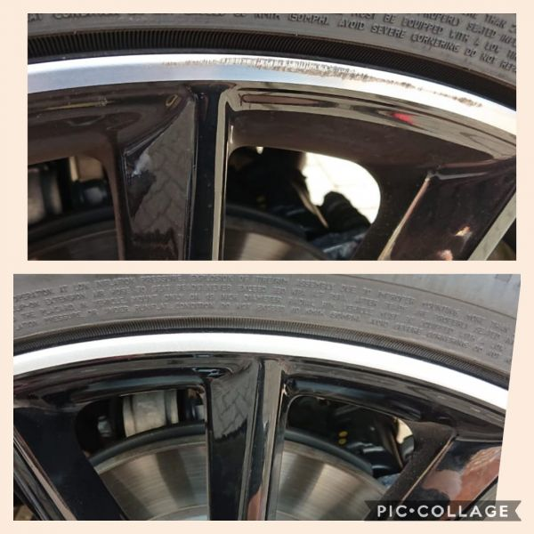Smart repair on this diamond turned rim in Derby. Looks as good as new. Available on our mobile service. : Swipe To View More Images