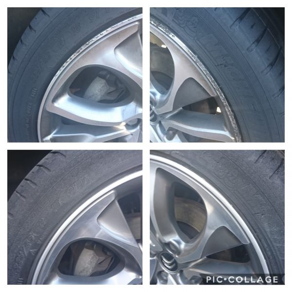 Kerb damage removed on these Citroen ds3 diamond cut wheels in Newark. We break the bead, sand out the damage and use specialist paint and lacquer for these wheel repairs.: Swipe To View More Images