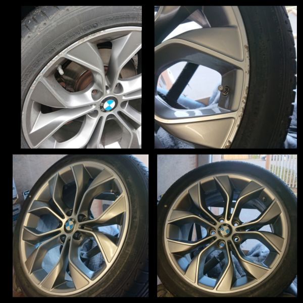 These X5 BMW wheels refurbed in Netherfield for one of our repeat customers: Swipe To View More Images