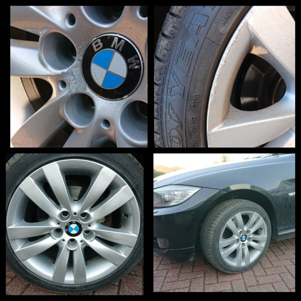 Bmw 1 series wheels showing signs of corrosion refinished on our mobile service in somercotes near alfreton : Swipe To View More Images