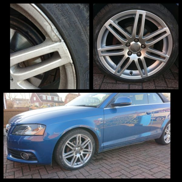 Audi rims repaired in Newthorpe near Eastwood. Love this colour combination: Swipe To View More Images