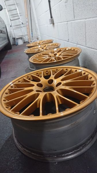 Loving these custom gold wheels at Mansfield Alloys: Swipe To View More Images