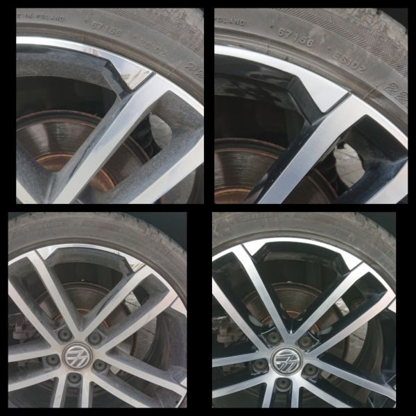 Two tone vw golf gtd alloy wheel repaired in Breaston, Derbyshire : Swipe To View More Images