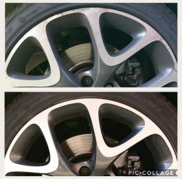 Corsa VXR diamond cut alloy wheels with curb rash repaired in Bingham. Our happy customer said we 'did a cracking job': Click Here To View Larger Image