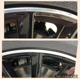 Smart repair on this diamond turned rim in Derby. Looks as good as new. Available on our mobile service. : Click Here To View Larger Image