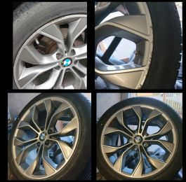 These X5 BMW wheels refurbed in Netherfield for one of our repeat customers: Click Here To View Larger Image