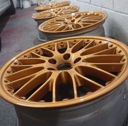 Loving these custom gold wheels at Mansfield Alloys: Click Here To View Larger Image