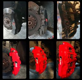Red calipers looking great on this Audi rs4 
