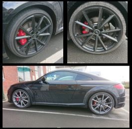 Colour change from gloss black to gun metal grey on this Audi tt in Shepshed, Leicester : Click Here To View Larger Image