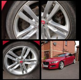 Refurbished silver alloys on this jaguar in swanick  : Click Here To View Larger Image
